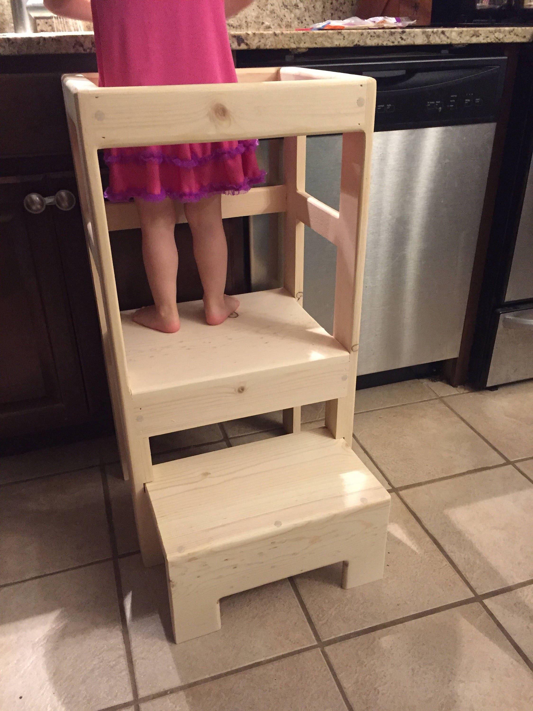 Natural Pine Children S Kitchen Play Safety Helper Step