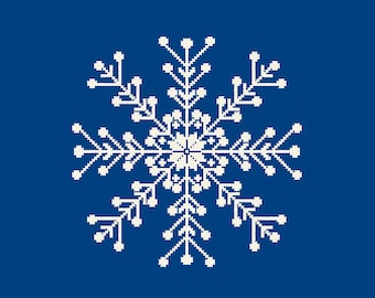 snowflake cross stitch Christmas cross stitch pattern Ornament Winter Holiday DIY Home Decor cards gift