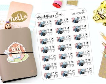 Shopping Planner Stickers - Shopping Bag Stickers - Online Shopping Stickers - Shopping Trip Stickers - Mall Planner Stickers - 985