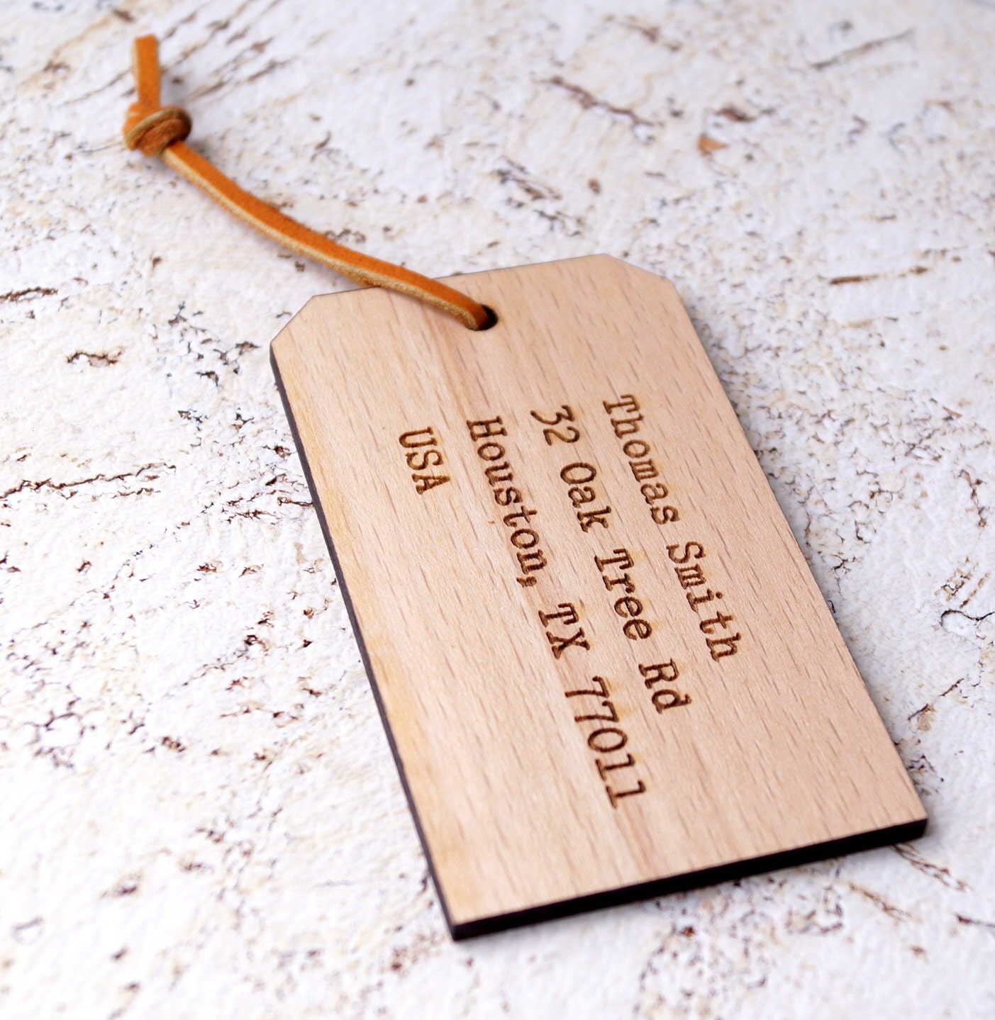 Personalized Luggage Tags Wedding Gift: Custom Luggage Tag Personalized Wooden Laser Engraved Luggage