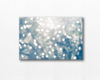abstract canvas art bokeh photography abstract light 12x18 fine art photography canvas print wall decor abstract canvas wrap gray blue large