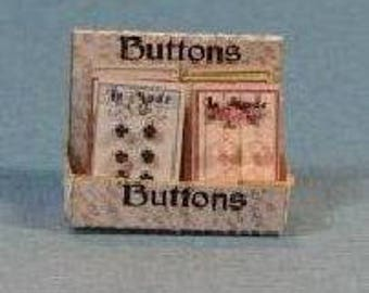 1:12 Dollhouse Miniature Button Box Kit / Miniature DIY DI FS508