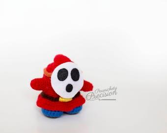 Crochet Yarn Shy Guy (Yoshi's Woolly World)
