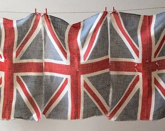 Vintage Union Jack Celebration Flags British Made England Set of 4