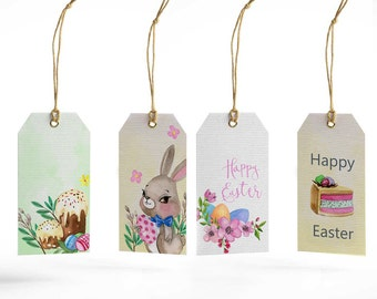 Easter, eastaer tag,bunny, eggs, watercolor Easter, Easter bunny gift tags, Printable Easter tags, Easter printable gift tags