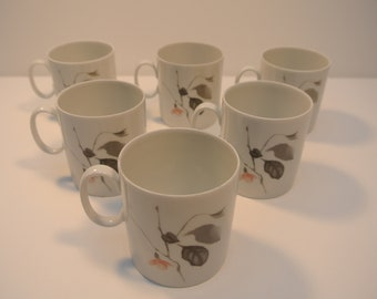 Thomas 1980s Quince Pattern Cups