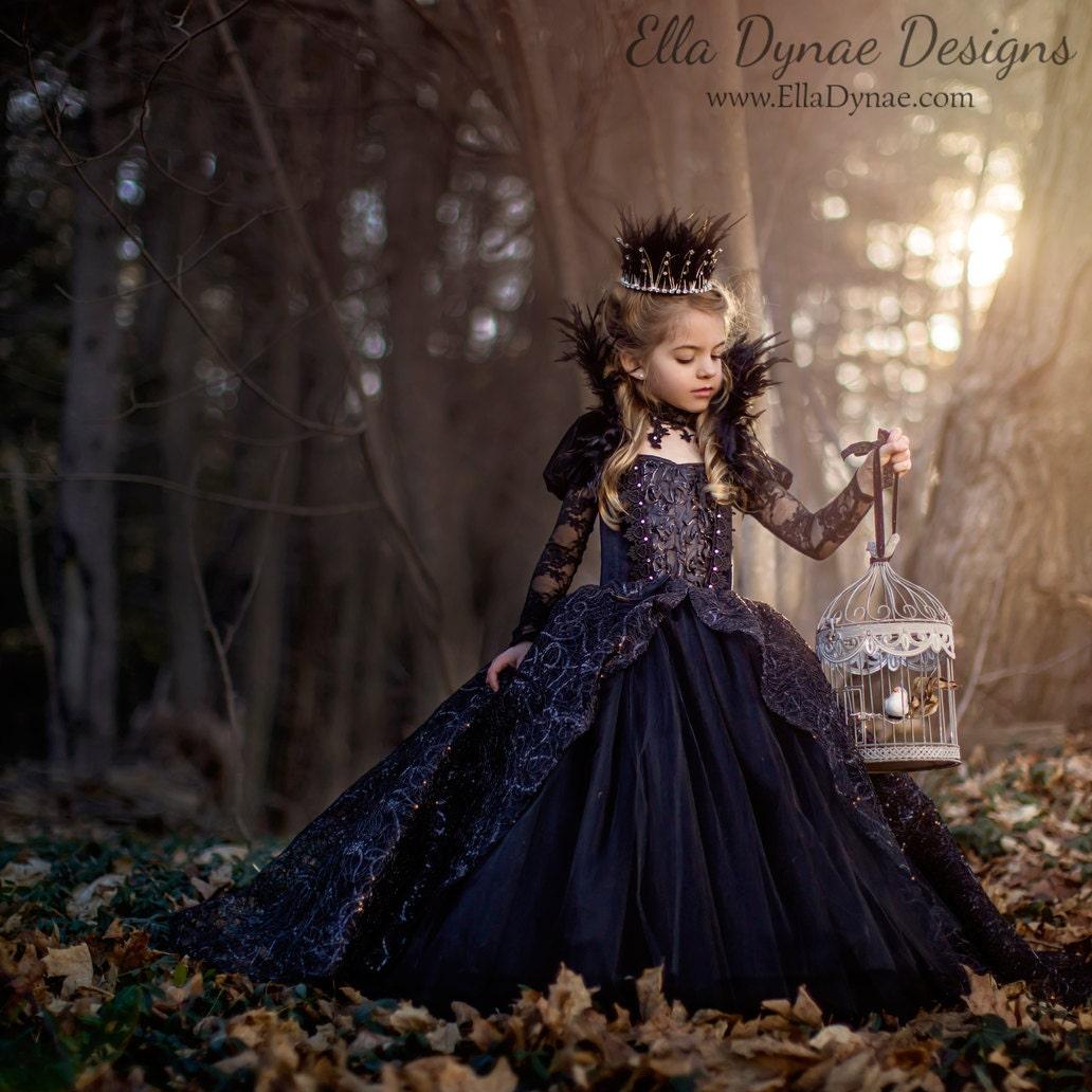 ?zoom  sc 1 st  Etsy & Evil Queen Costume Vampire Ball Gown