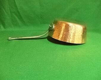 French copper pan, copper saute pan, copper saucepan,  2mm pan, tin lined copper, 18cm  Francais stamp 1.2kg (ref 28)