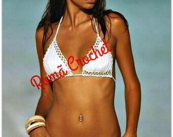 White Crochet bikini set Crochet swimsuit Crochet bikini top Crochet bikini bottom Brazilian bikini cheeky bikini Summer
