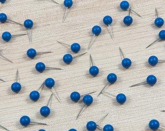 Map Push Pins: Deep Blue - Matte Finish