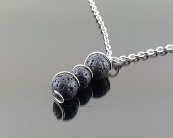 Lava Rock Aromatherapy Diffuser Pendant