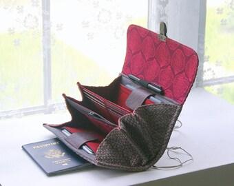 Deuxième poche de téléphone pour votre portefeuille.  Personnalisez votre portefeuille, des portefeuilles personnalisés, des portefeuilles pour femmes, deux téléphones, portefeuille, étui à gadget, cas de téléphone