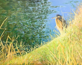 Don't Bother Me I'm Thinking Original Acrylic Painting on Canvas, Gallery-Wrapped