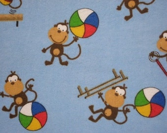 Playing Monkey's on blue Flannel