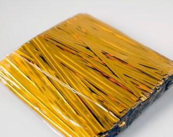 Gold Metallic Twist Ties