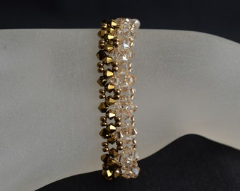 Swarovski crystal bracelet crystal gold cuff 2x and crystal golden shadow