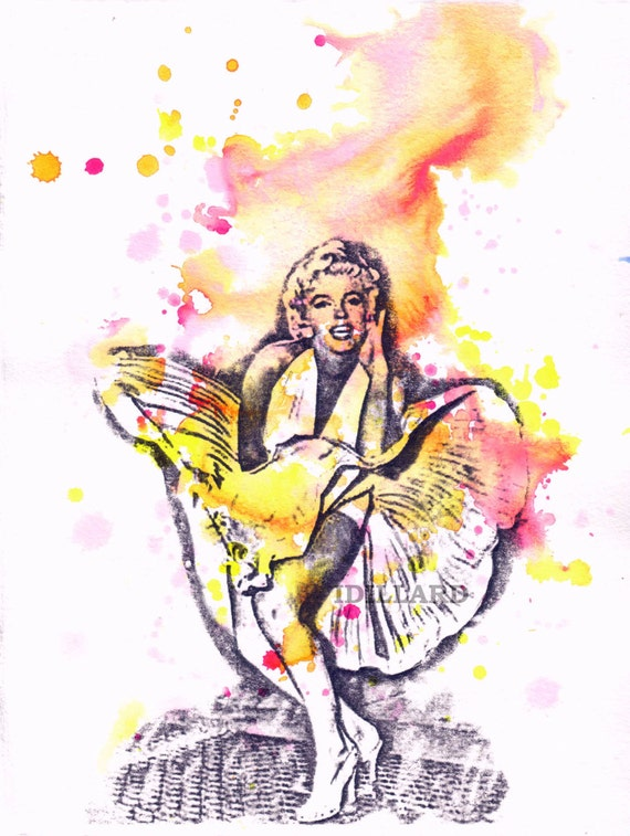 Marilyn Monroe Painting Art Print Pop Art Painting Poster