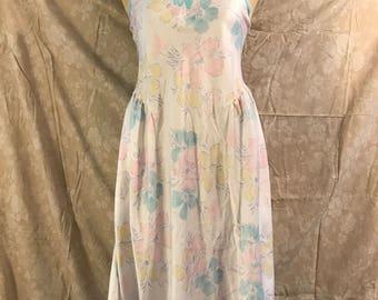 Vintage Pastel Floral Nightgown