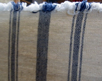 VERY FRENCH Rairoaded Woven French Blue  Stripe Cotton fabric