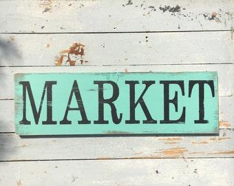 Market sign | kitchen decor | farmers market | wooden sign | wall decor | wall art | home decor | rustic | pantry sign | farmhouse decor |
