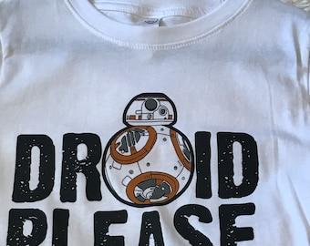 Droid Please T-Shirt - Star Wars - BB-8