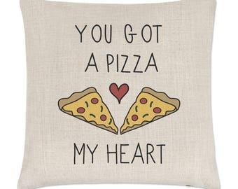 You Got A Pizza My Heart Linen Cushion Cover