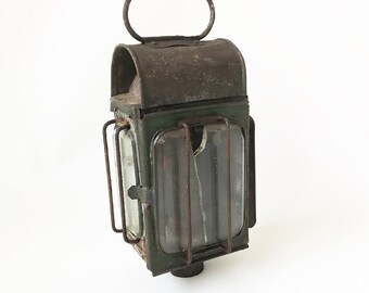 """19th Century Carriage Lantern, Buggy Lantern, Wagon Light """"Ready for Upcycle as a Wall Sconce or Candle Holder"""""""
