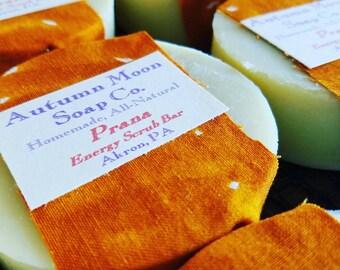 Prana Energy Scrub Bar, ALL-NATURAL, vegan, palm-free pumice soap bar