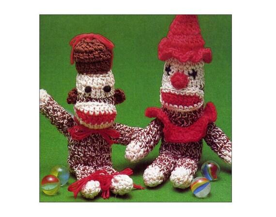 Miniatur-Strumpf-Affen Häkelanleitung Muster Clown oder