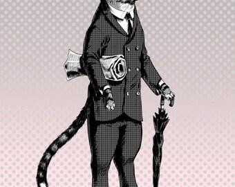 Business Cat Print