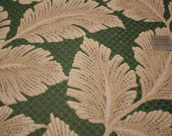 Imperial Wallpaper Sample Large Gray Leaves on Green