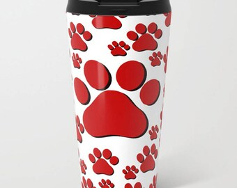 Tiger Paw Coffee Mug-Stainless Steel Travel Mug-Coffee Tumbler-School Coffee Tumbler-Insulated Travel Mug-Customized Mug-School Mascot Gear