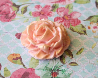 24 Edible Pink Fondant Roses for Cake and Cupcake Toppers Decorations
