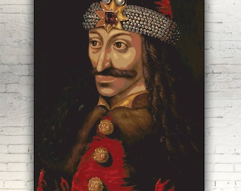 "Vlad the Impaler - CANVAS - 16""x12"" artwork print on cotton canvas alternative movie poster horror Dracula Prince of Wallachia Tepes vampire"