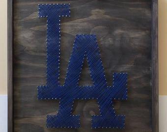 Dodgers String Art, LA String Art, LA Dodgers Art, Dodgers Nail and String Art, Baseball String Art, LA Dodgers Nail Art, Baseball Art