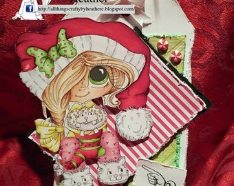 INSTANT DOWNLOAD Digital Digi Stamps Big Eye Big Head Dolls NEW Besties img710 My Besties By Sherri Baldy