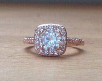 Oversized rose gold timeless elegance ring