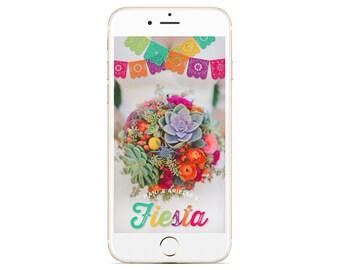 Bright Fiesta Wedding Snapchat Geofilter | Custom Geofilter | Birthday Geofilter | Bridal Shower Geofilter | Wedding Geofilter