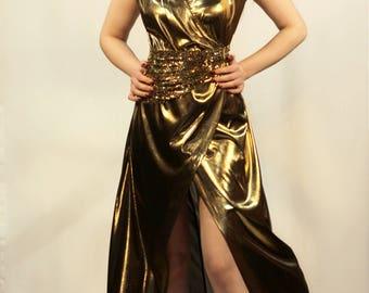 Gold Metalic Dress