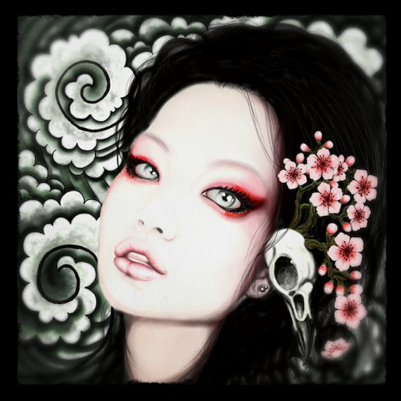 Geisha stretched canvas print