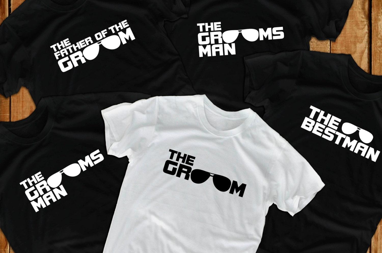 Groom t shirts 7 Bachelor Party groomsmen gift for groom