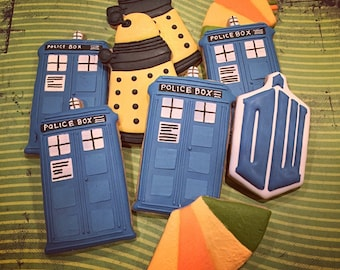 Custom Decorated Shortbread Cookies Dr Who