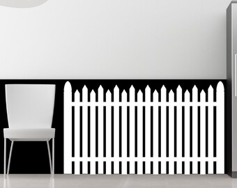 American Dream - White Picket Fence - Vinyl Wall Decal  sc 1 st  Etsy & Picket fence decal | Etsy