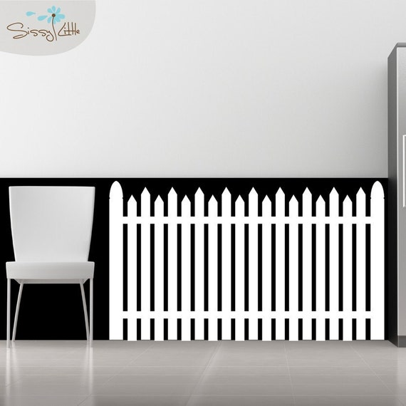 White Picket Fence Vinyl Wall Decal by SissyLittle