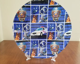 """Police Department 10"""" Round Plate"""
