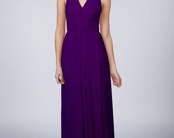 Deep Purple Halterneck Long Bridesmaid/Prom Dress by Matchimony