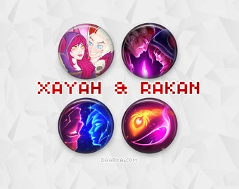 Xayah & Rakan - The Rebel and The Charmer (Pin-Back Buttons)
