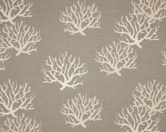 Premier Prints Isadella Coral Slub Coastal Grey/Natural Fabric