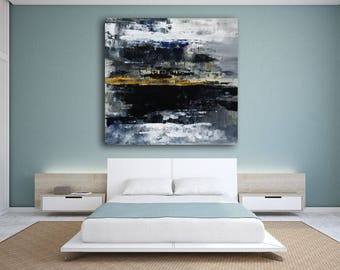 abstract landscape palette knife large painting made to order