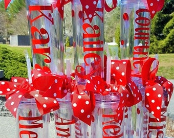 Personalized Cheerleader Tumblers  with straw, wedding tumbler, Banquet Gifts, football, coaches, cheerleaders,  16 oz BPA Free Tumbler